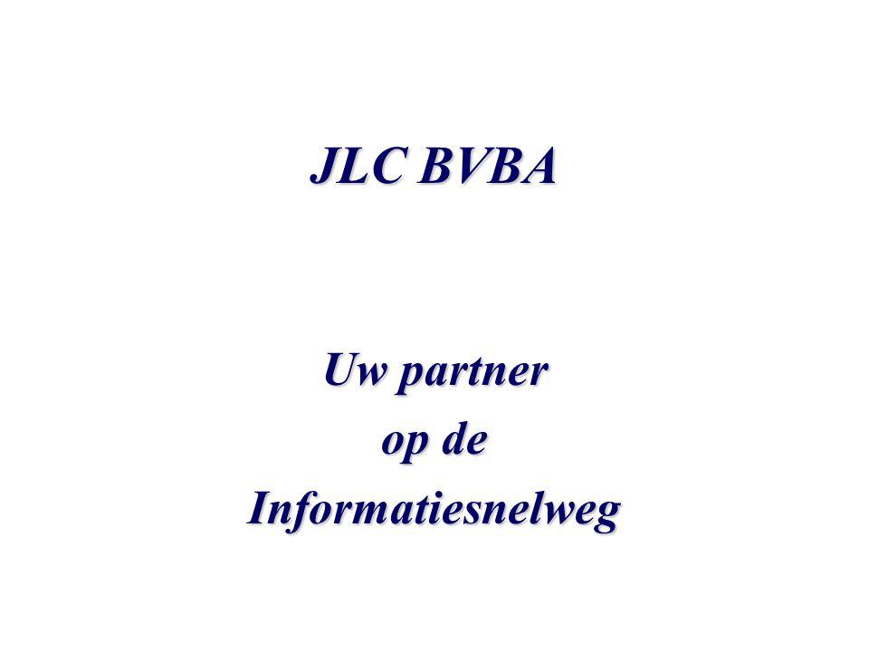JLC BVBA Web-pakketten Small Site Samenstelling pakket : •Uw domeinnaam •Eén POP3 mailbox met catch-all doorstuuraccount •Ontwikkeling en hosting van 5 pagina's •Bezoekersstatistieken € 600,00 € 633,50 Prijs : € 600,00 i.p.v.