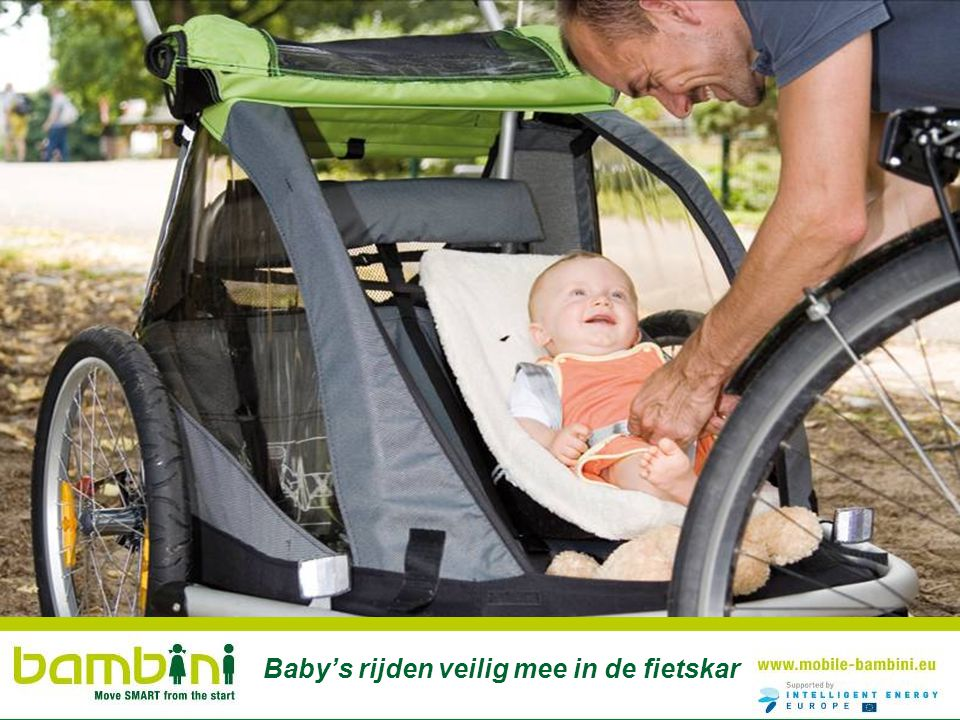 Baby's rijden veilig mee in de fietskar