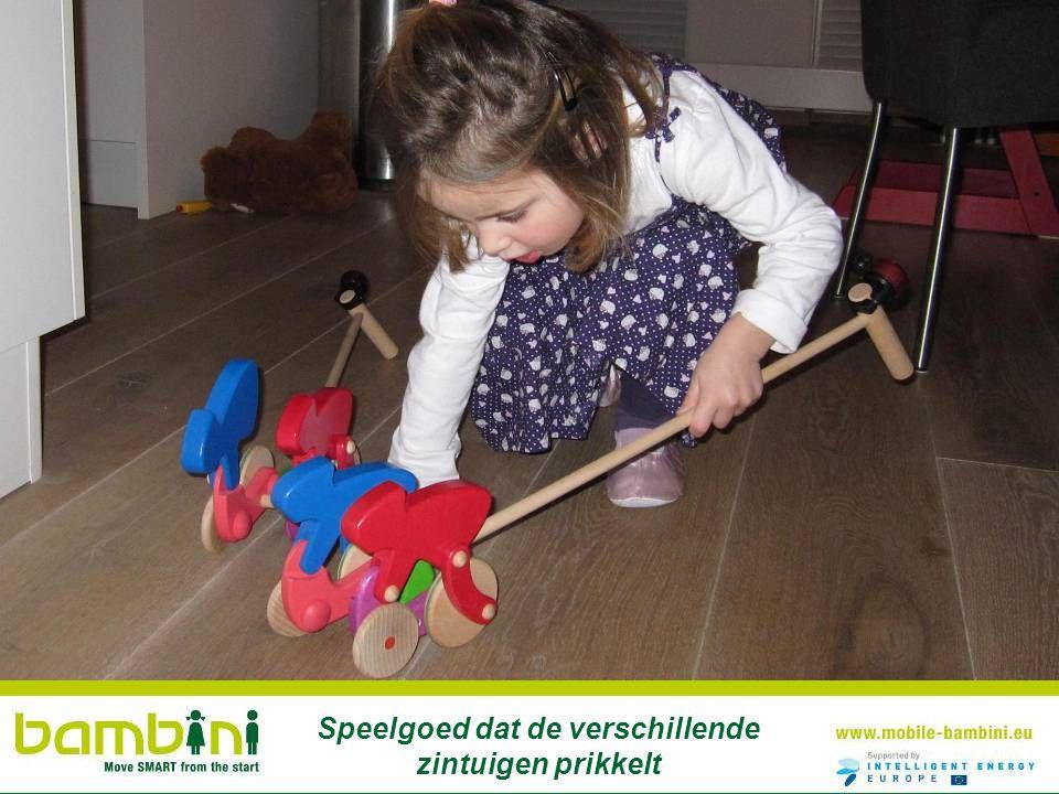 Speelgoed dat de verschillende zintuigen prikkelt