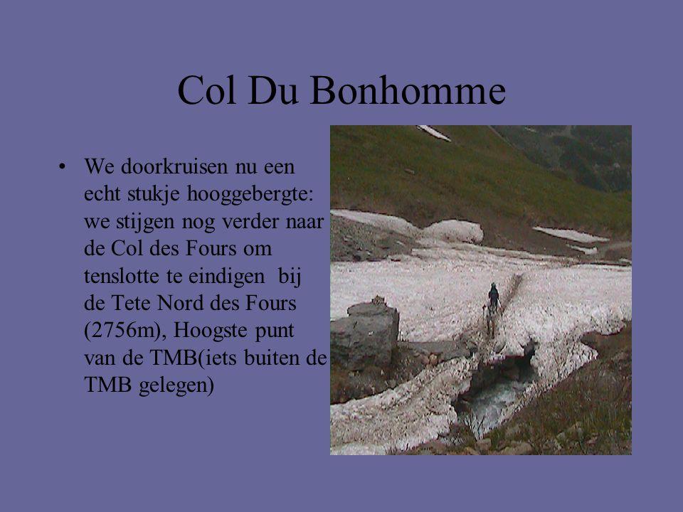 Col Du Bonhomme •We doorkruisen nu een echt stukje hooggebergte: we stijgen nog verder naar de Col des Fours om tenslotte te eindigen bij de Tete Nord