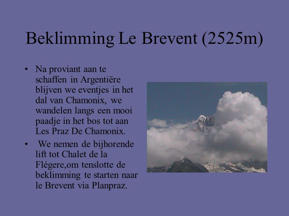 Beklimming Le Brevent (2525m) •Na proviant aan te schaffen in Argentiëre blijven we eventjes in het dal van Chamonix, we wandelen langs een mooi paadj