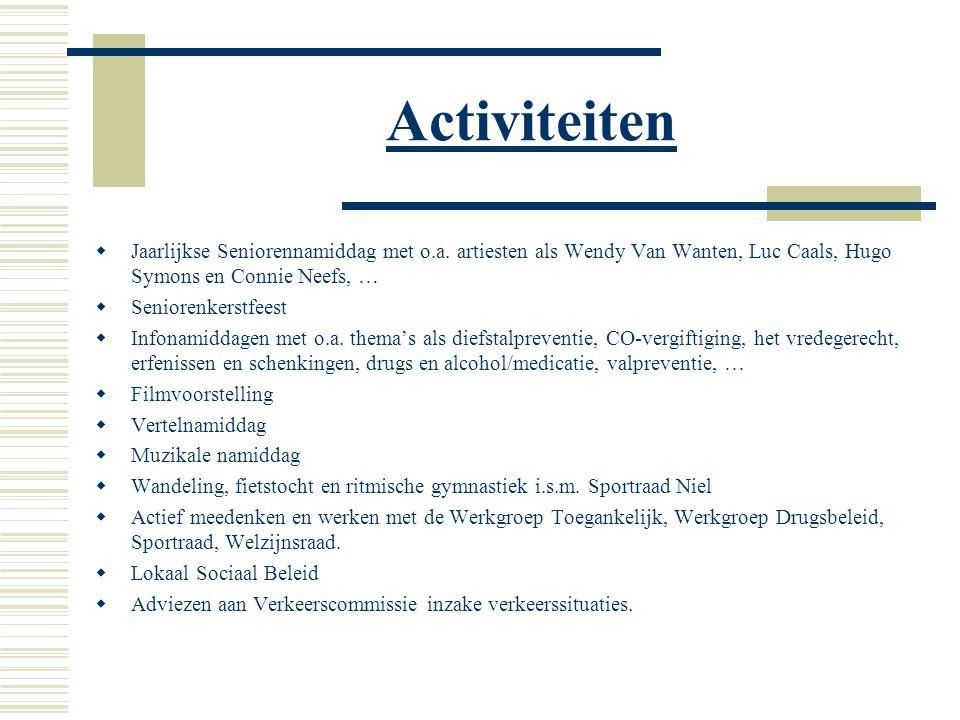 Activiteiten  Jaarlijkse Seniorennamiddag met o.a.