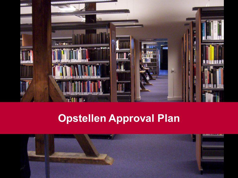 10 Opstellen Approval Plan