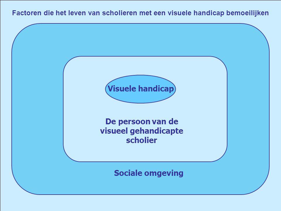 Visuele handicap Factoren die het leven van scholieren met een visuele handicap bemoeilijken De persoon van de visueel gehandicapte scholier Sociale o