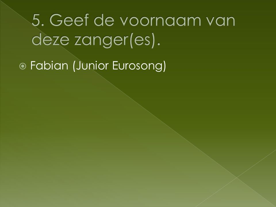  Fabian (Junior Eurosong)