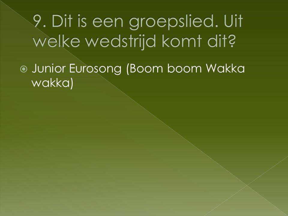  Junior Eurosong (Boom boom Wakka wakka)