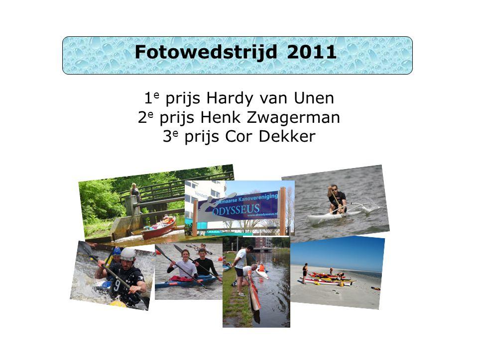 1 e prijs Hardy van Unen 2 e prijs Henk Zwagerman 3 e prijs Cor Dekker Fotowedstrijd 2011