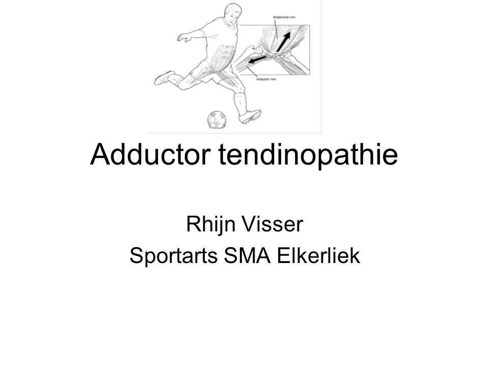 Adductor tendinopathie Rhijn Visser Sportarts SMA Elkerliek