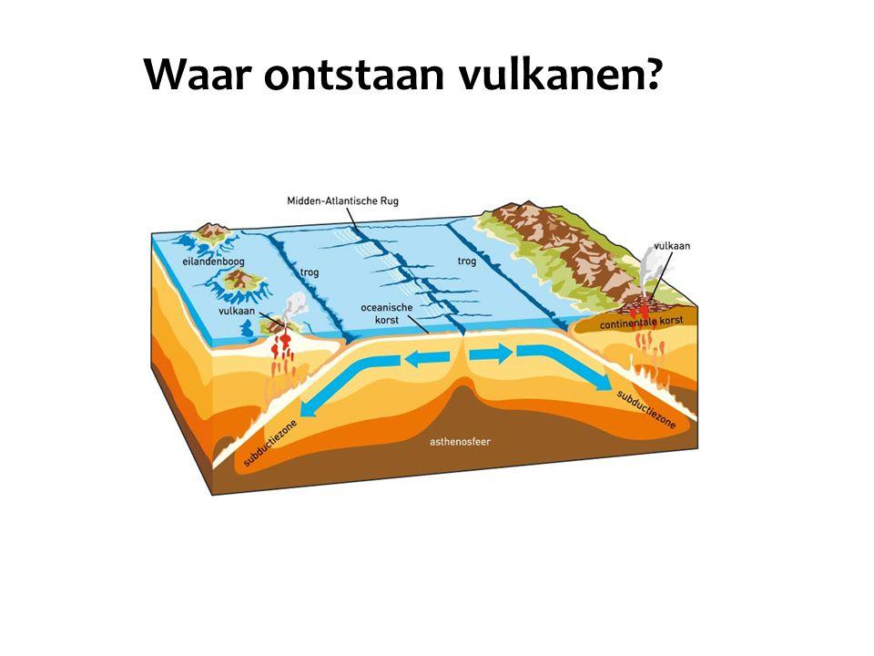 Waar ontstaan vulkanen?