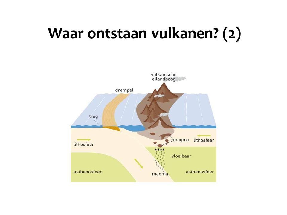 Waar ontstaan vulkanen? (2)