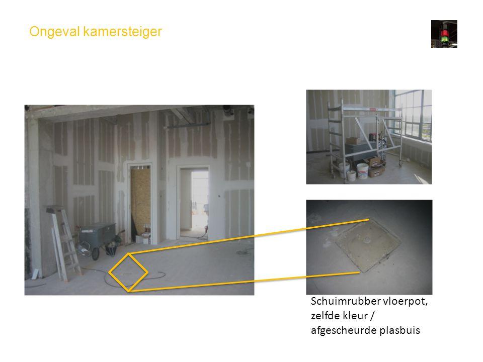 Ongeval kamersteiger Schuimrubber vloerpot, zelfde kleur / afgescheurde plasbuis