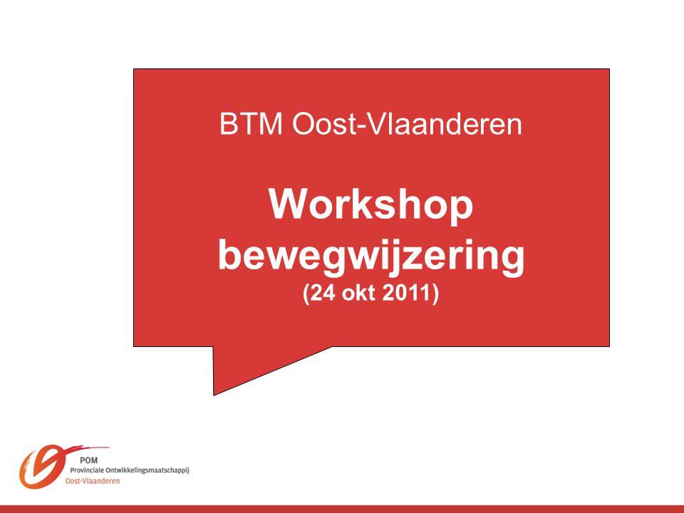 BTM Oost-Vlaanderen Workshop bewegwijzering (24 okt 2011)