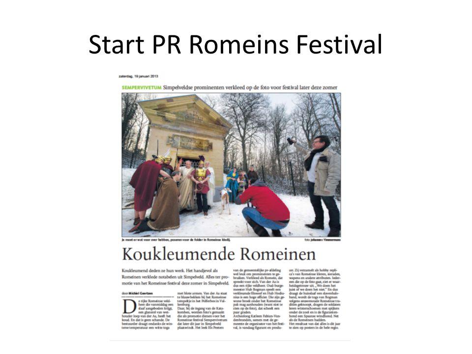 Start PR Romeins Festival