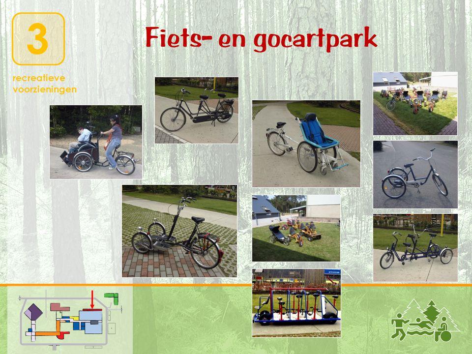 3 recreatieve voorzieningen Fiets- en gocartpark