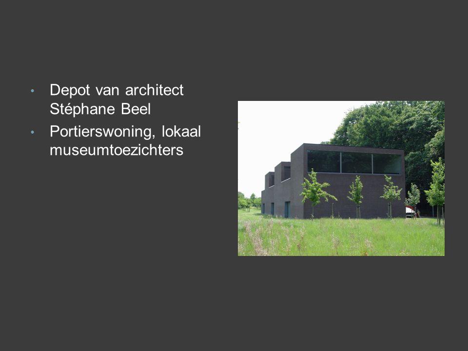 • Depot van architect Stéphane Beel • Portierswoning, lokaal museumtoezichters