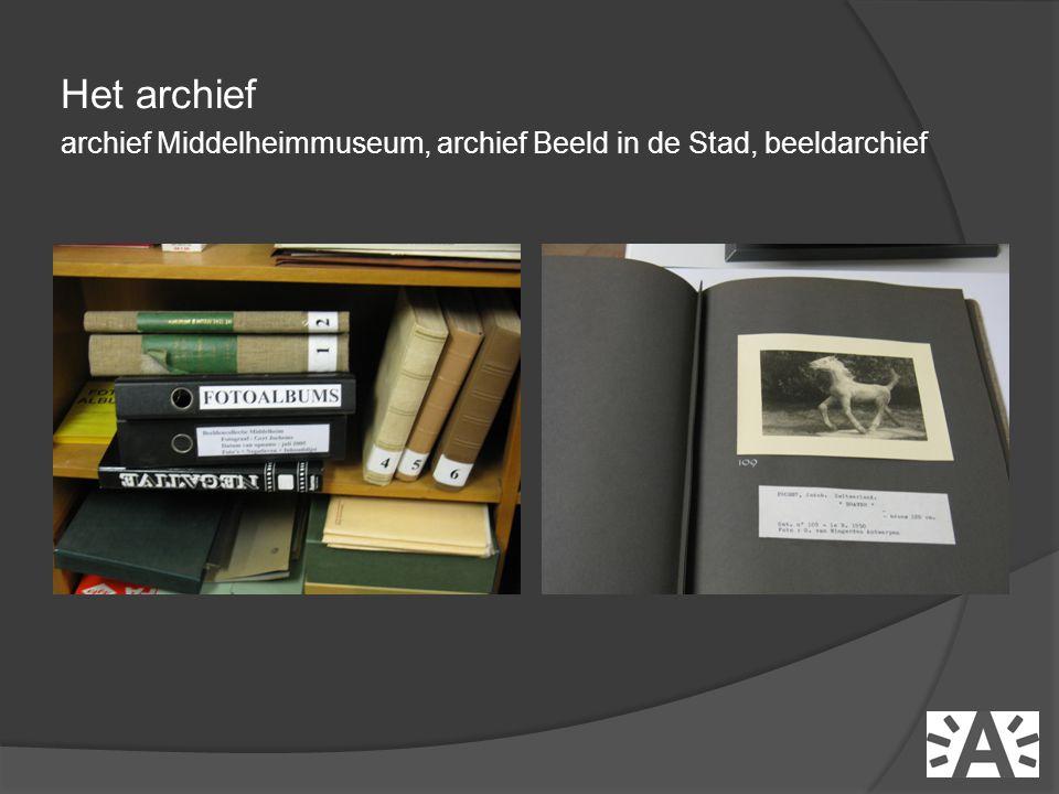 Het archief archief Middelheimmuseum, archief Beeld in de Stad, beeldarchief