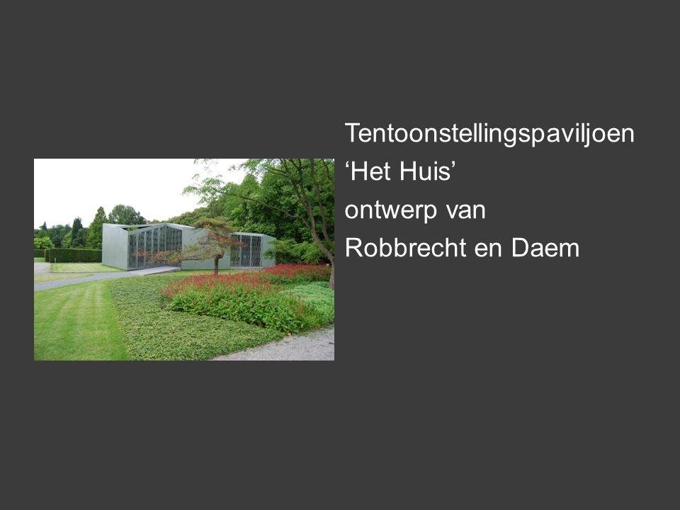 Tentoonstellingspaviljoen 'Het Huis' ontwerp van Robbrecht en Daem