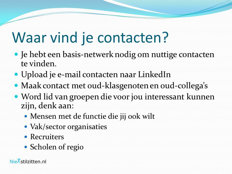 Waar vind je contacten. Je hebt een basis-netwerk nodig om nuttige contacten te vinden.