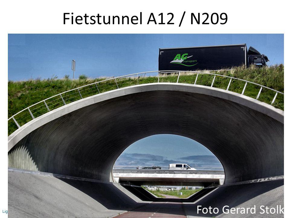 12 Fietstunnel A12 / N209 Foto Gerard Stolk