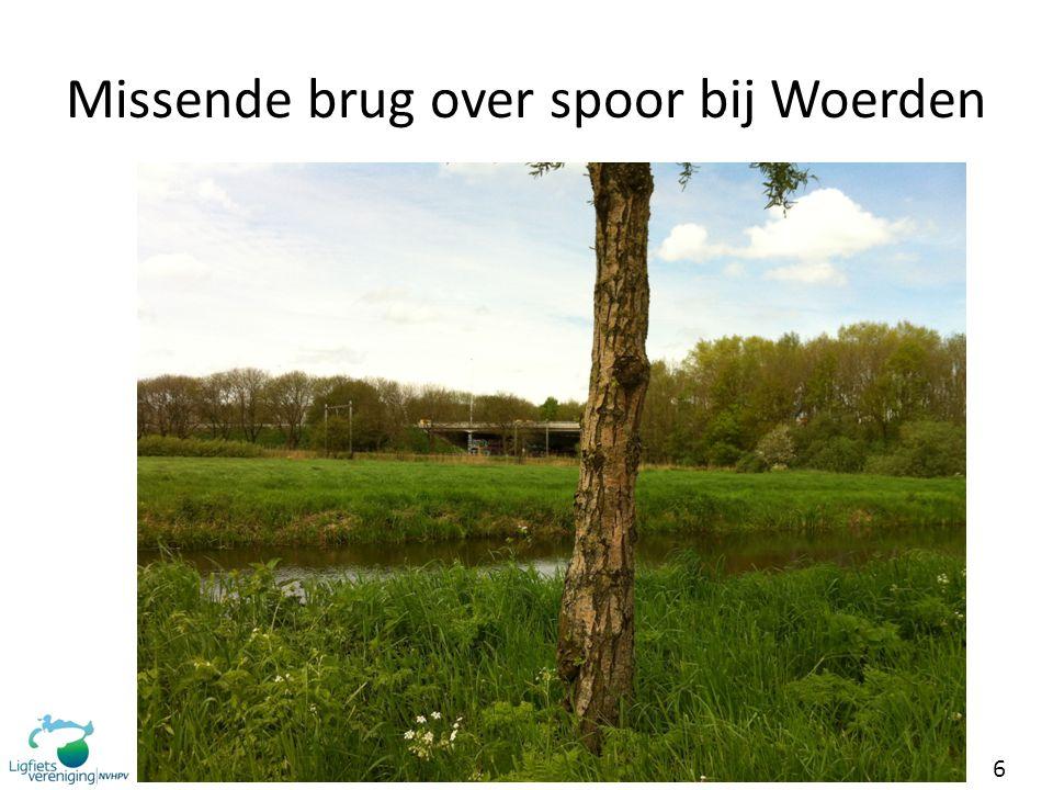 6 Missende brug over spoor bij Woerden