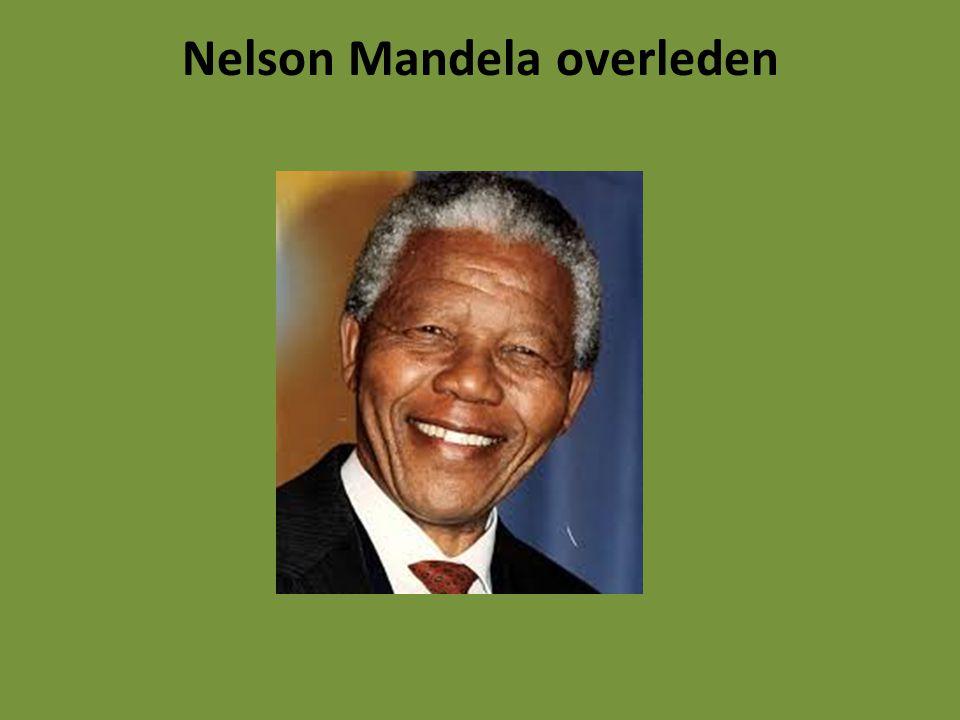 Het nieuws ging 5 december rond als een lopend vuurtje. Nelson Mandela was dood.