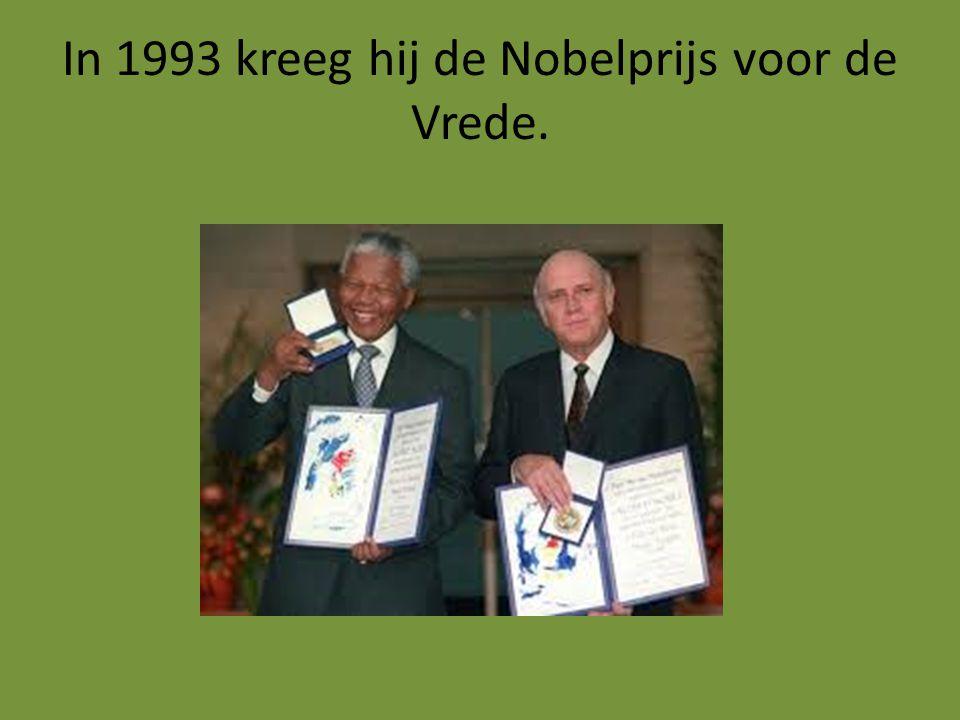 In 1993 kreeg hij de Nobelprijs voor de Vrede.