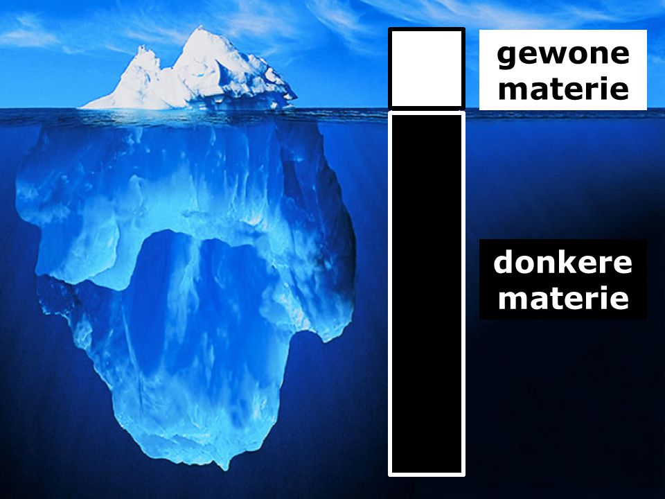 donkere materie gewone materie