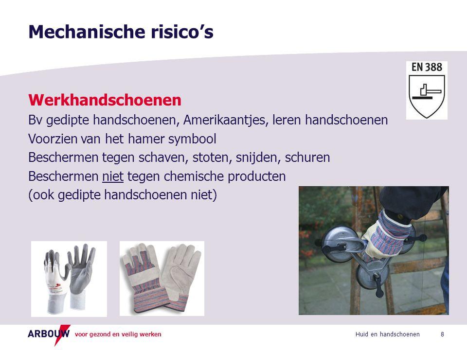 voor gezond en veilig werken Werkhandschoenen Bv gedipte handschoenen, Amerikaantjes, leren handschoenen Voorzien van het hamer symbool Beschermen teg