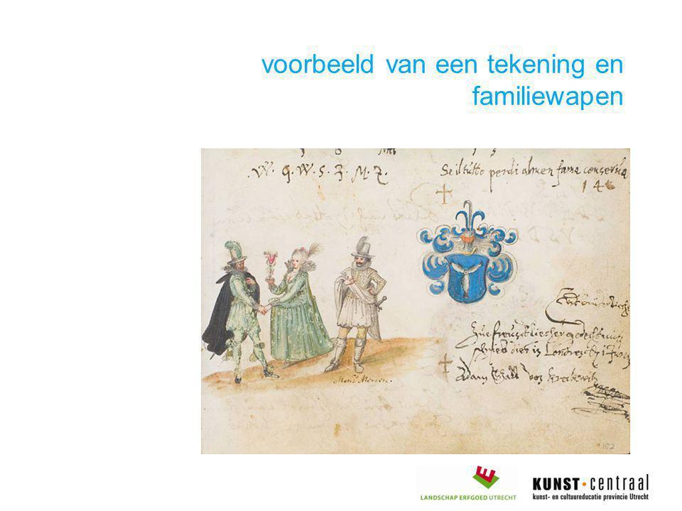 voorbeeld van een tekening en familiewapen