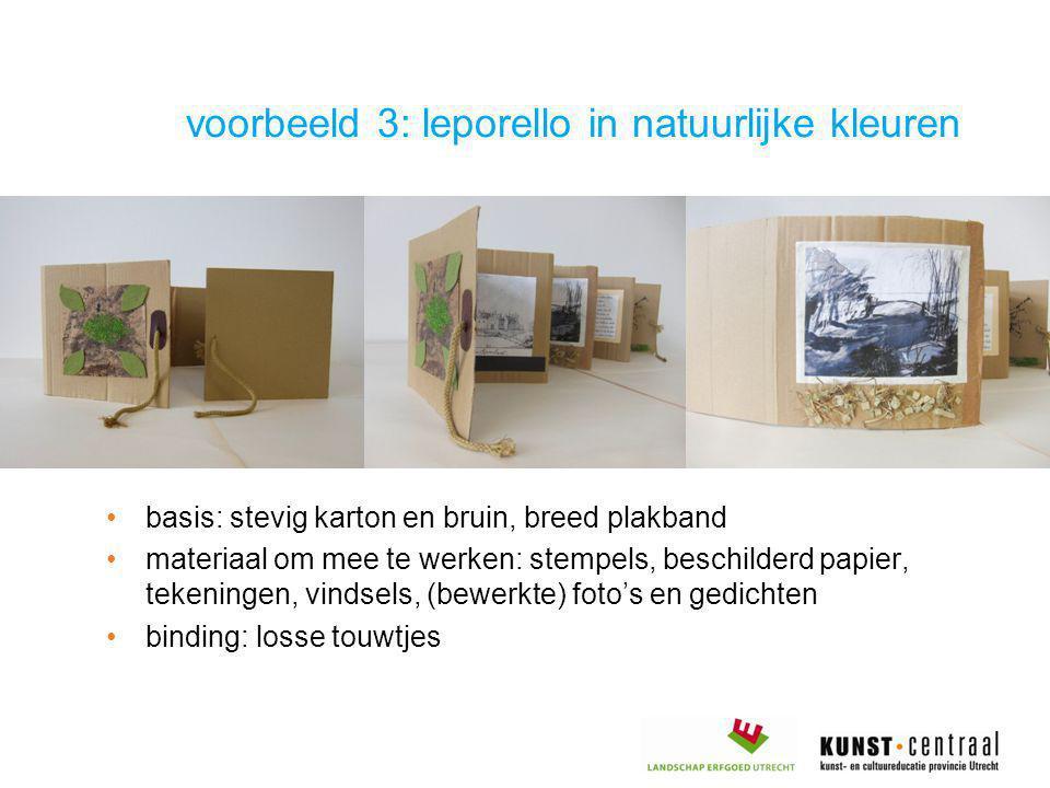 •basis: stevig karton en bruin, breed plakband •materiaal om mee te werken: stempels, beschilderd papier, tekeningen, vindsels, (bewerkte) foto's en g