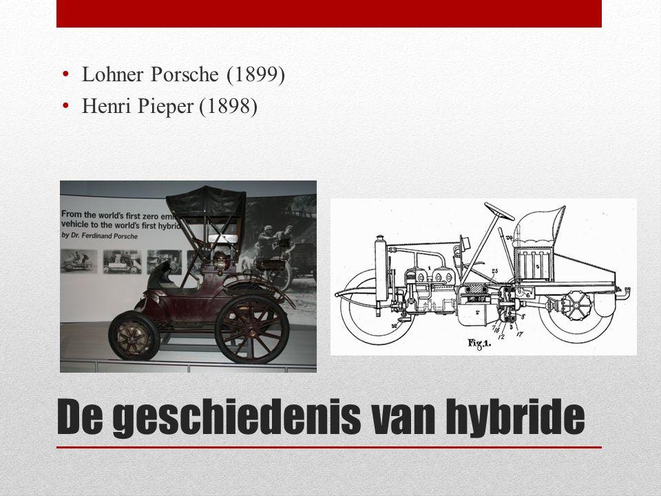 Werking van hybride.• Elke combinatie van twee verschillende typen motoren.