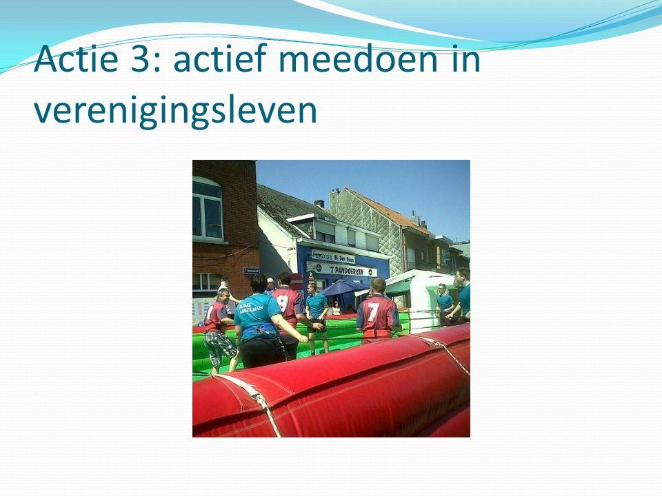 Actie 3: actief meedoen in verenigingsleven