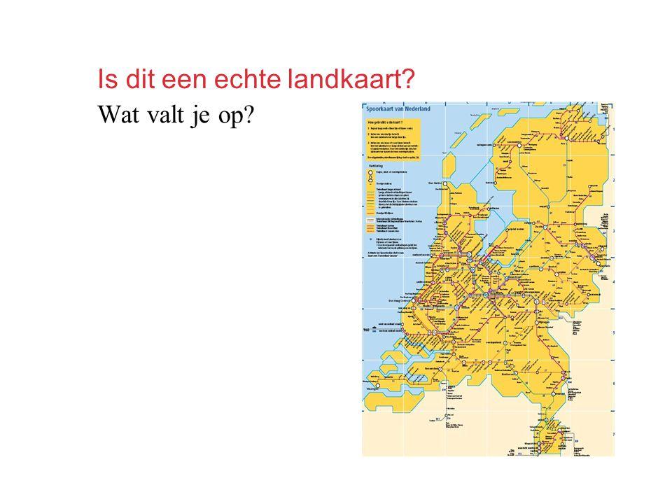 Is dit een echte landkaart? Wat valt je op?