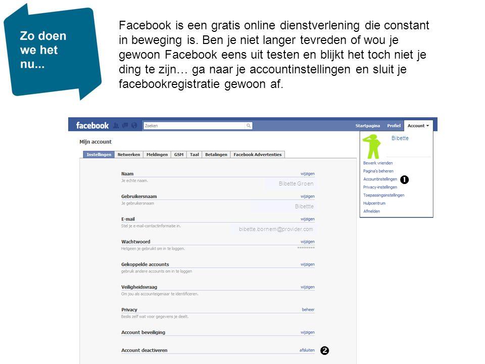 Bibette Facebook is een gratis online dienstverlening die constant in beweging is. Ben je niet langer tevreden of wou je gewoon Facebook eens uit test