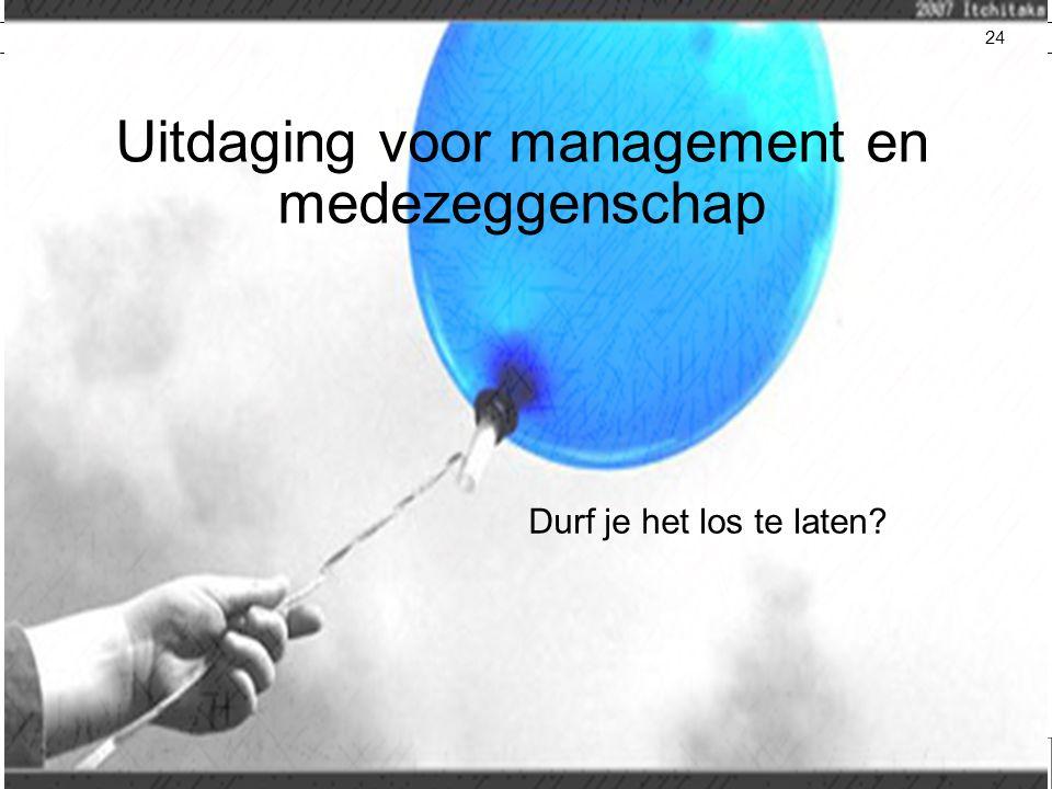 Inge Telting Uitdaging voor management en medezeggenschap Durf je het los te laten? 24
