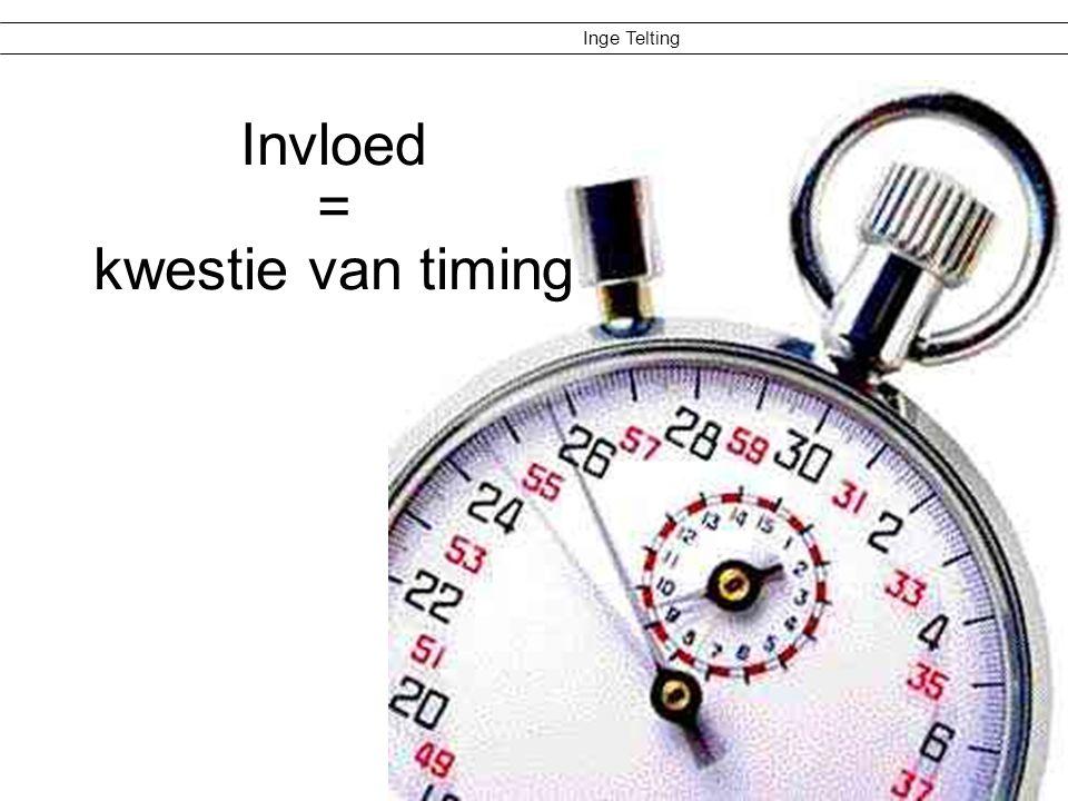 Inge Telting Invloed vergroten >Kom met eigen ideeën.