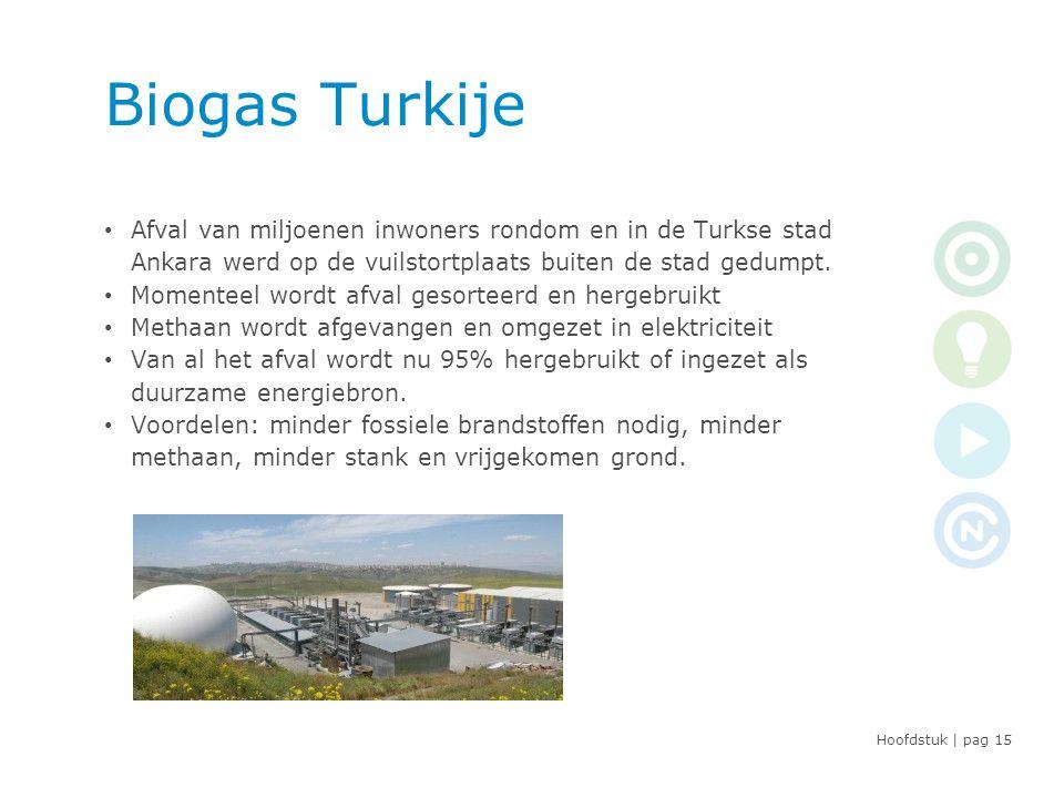 Hoofdstuk | pag Biogas Turkije • Afval van miljoenen inwoners rondom en in de Turkse stad Ankara werd op de vuilstortplaats buiten de stad gedumpt.