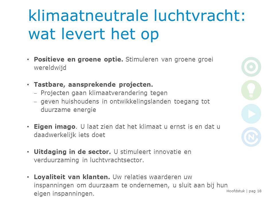Hoofdstuk | pag klimaatneutrale luchtvracht: wat levert het op • Positieve en groene optie.