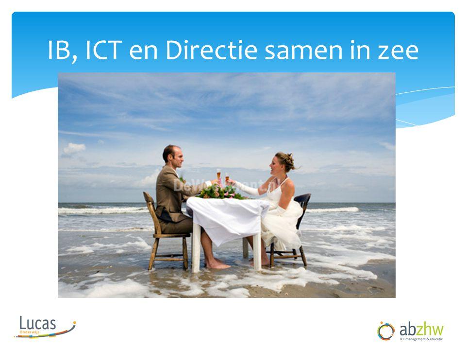 IB, ICT en Directie samen in zee