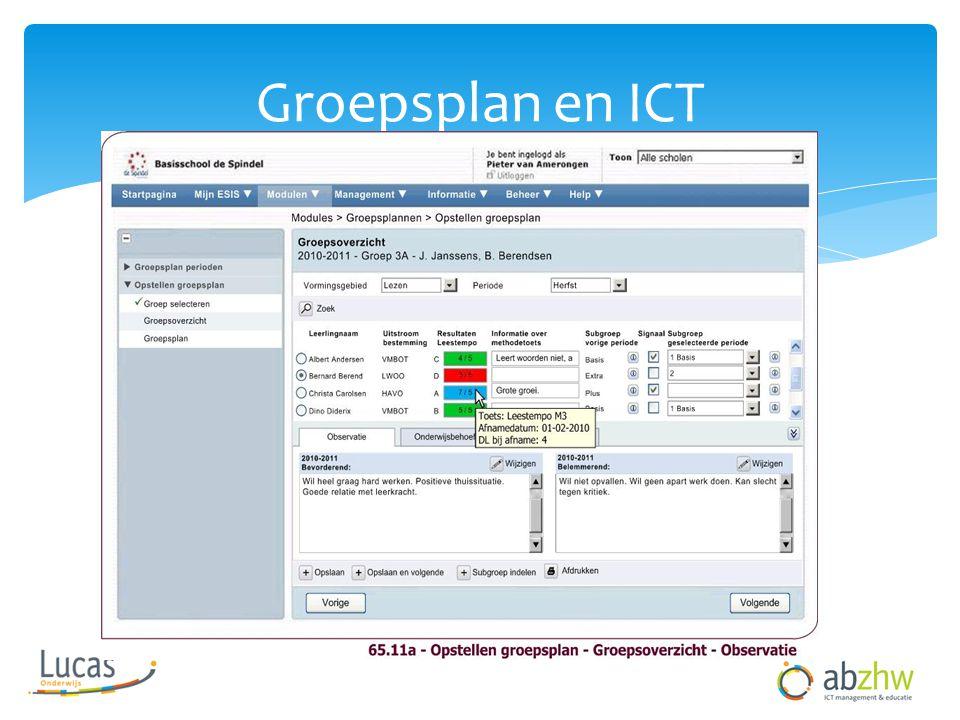 Groepsplan en ICT