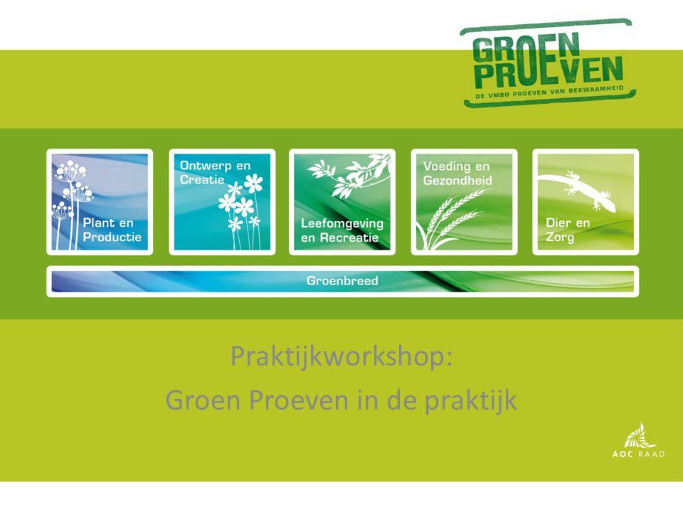 Praktijkworkshop: Groen Proeven in de praktijk