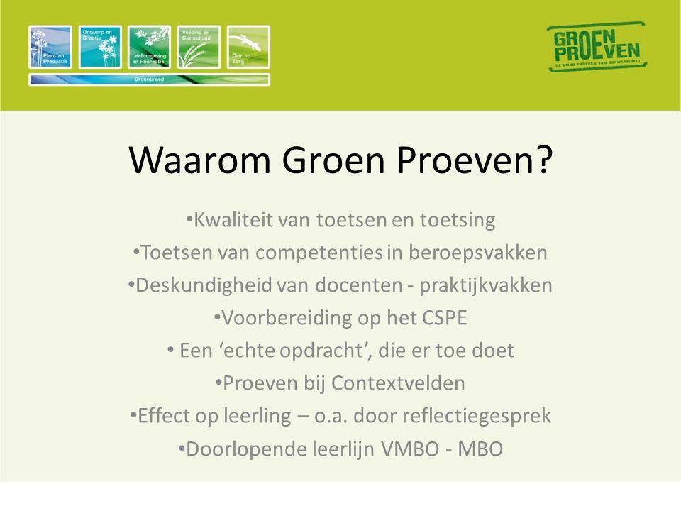 Waarom Groen Proeven.