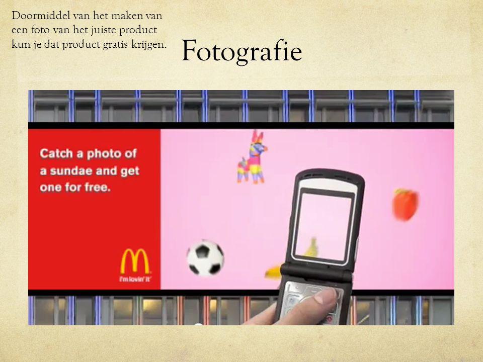 Fotografie http://www.youtube.com/watch v=CIzLd8zRwXw&fea ture=related Doormiddel van het maken van een foto van het juiste product kun je dat product gratis krijgen.