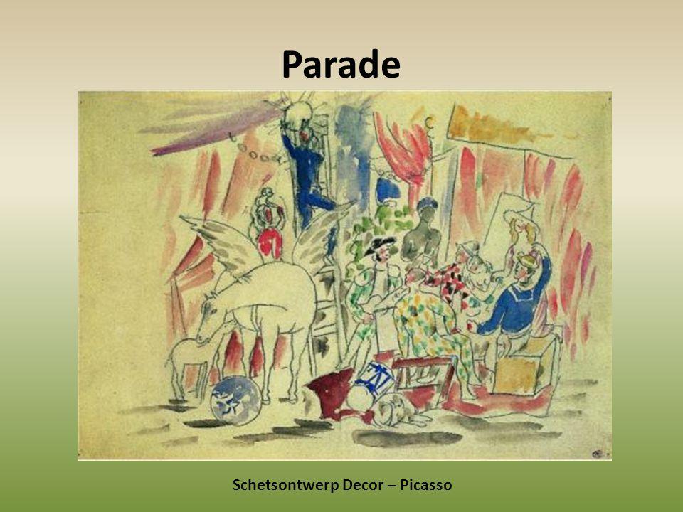 Parade Schetsontwerp Decor – Picasso