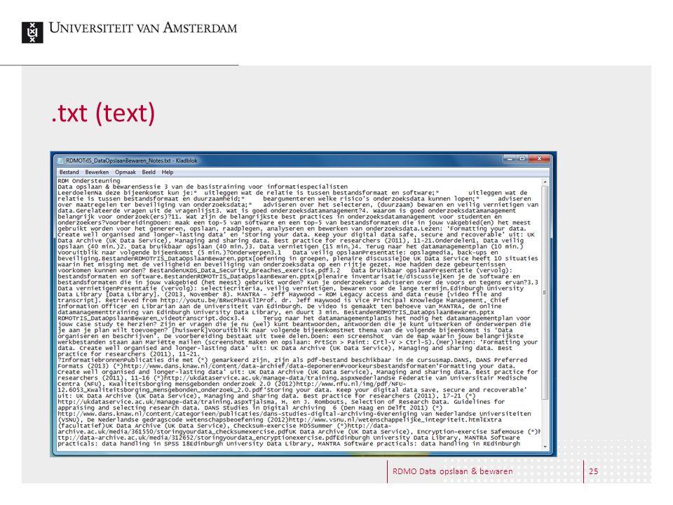 .txt (text) RDMO Data opslaan & bewaren25