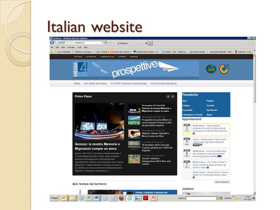 Italian website