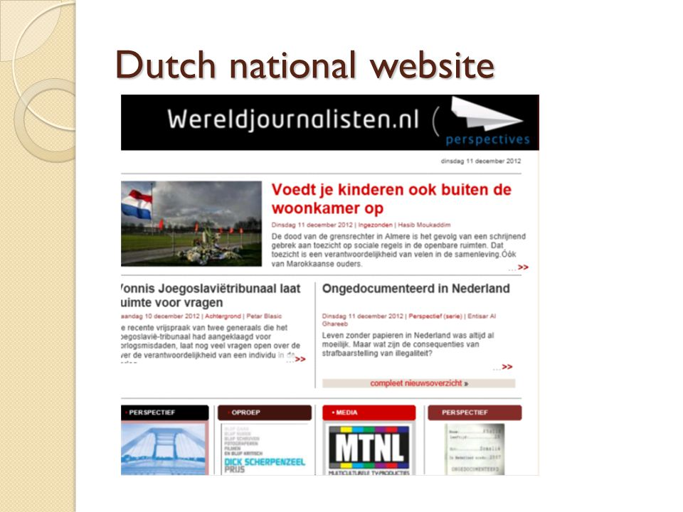 Dutch national website