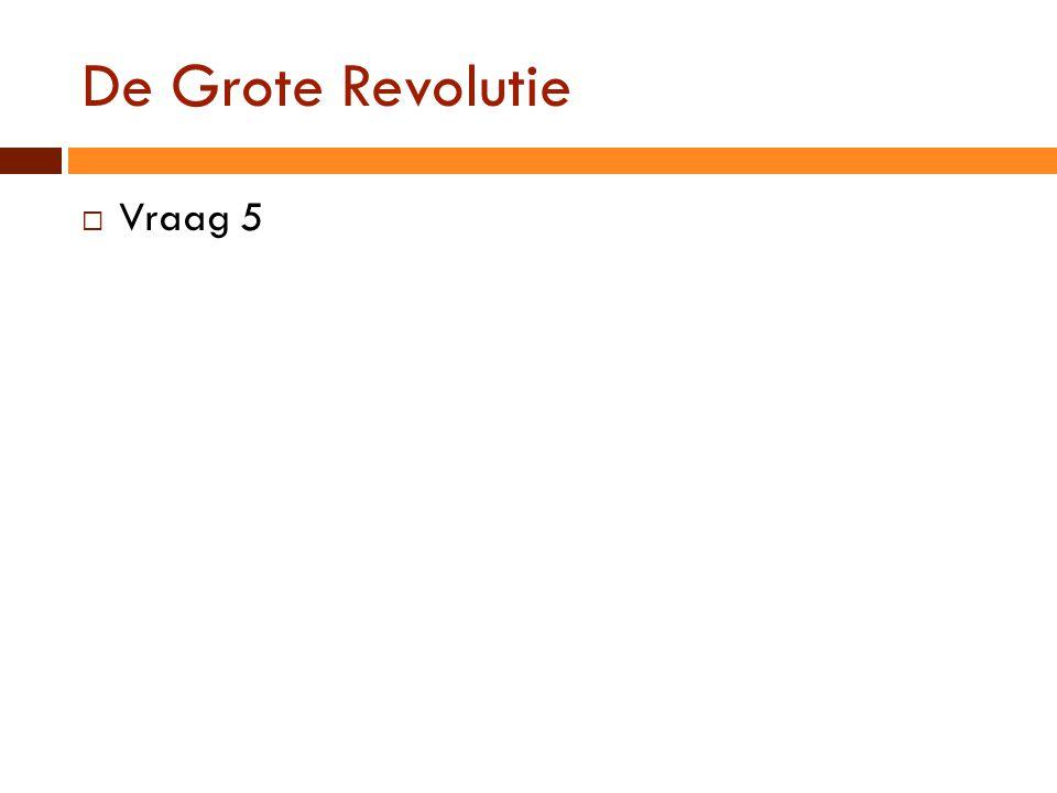 De Grote Revolutie  Vraag 5