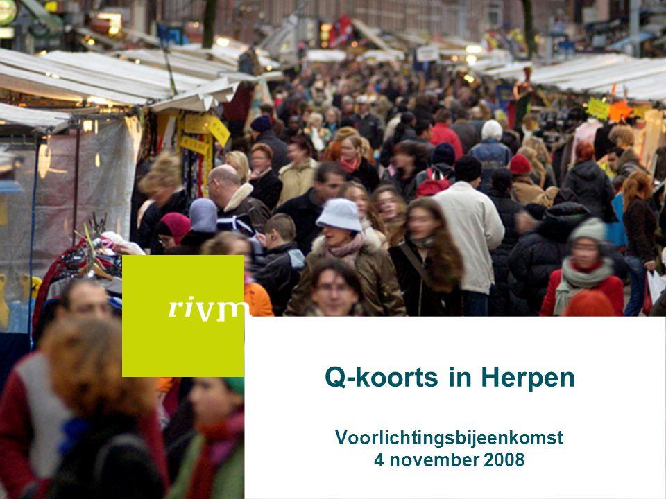 22 Algemene conclusie Q koorts 2007 •Uitbraak: -In 2007 (meer dan) 171 patiënten -Groot gebied in Noord Brabant -Precieze bronnen nooit aangetoond, wel agrarische expositie •Hoe verder.