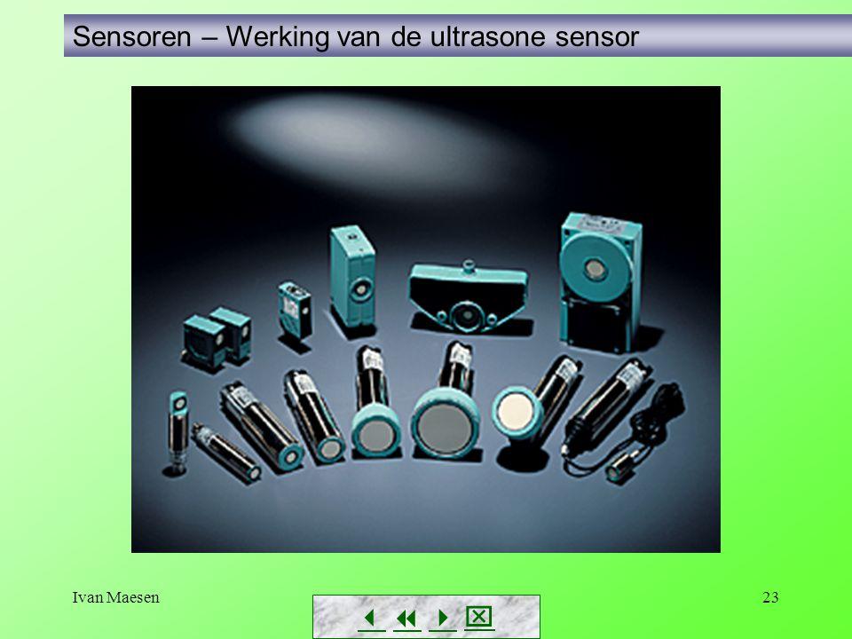 Ivan Maesen23 Sensoren – Werking van de ultrasone sensor       
